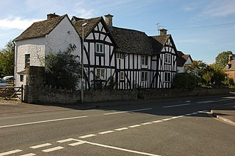 Bishop's Cleeve - Half-timbered house in the centre of the village on Station Road