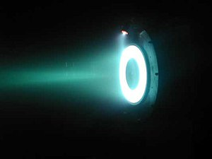 Hall effect thruster. The electric field in a plasma double layer is so effective at accelerating ions that electric fields are used in ion drives