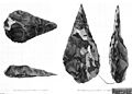 Hand-axes from Hoxne, Suffolk in Archaeologia, 1800 Wellcome M0015026.jpg