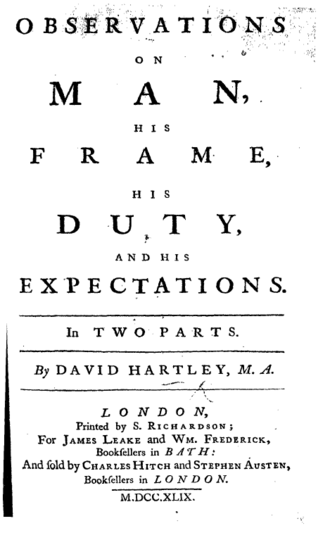 David Hartley (philosopher) - Title page from the first edition of the Observations