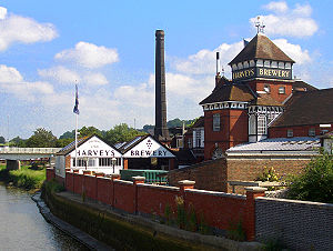 Harveys brewery as seen from the Cliffe Bridge...