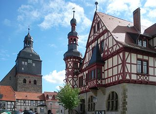Harzgerode Place in Saxony-Anhalt, Germany