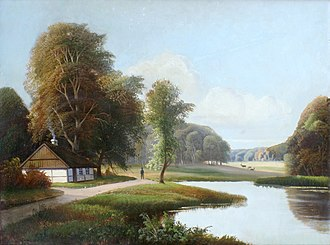 Jægersborg Dyrehave - A 19th Century view of Dyrehaven by Sigfried Hass.