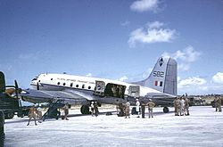 Handley Page Hastings auf Christmas Island 1956