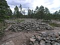 Hautaröykkiöryhmä stone heap tombs from the Bronze Age on the hill 01.jpg