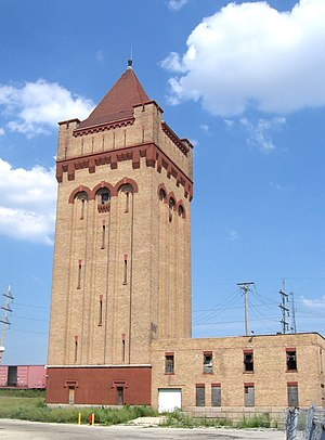 Western Electric - Tower of former Hawthorne Works (as of 2012)