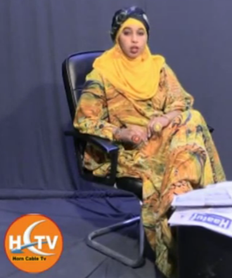 Communications in Somalia - News show on the Somali private channel Horn Cable Television.
