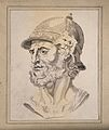 Head of the Roman god Mars. Drawing, c. 1793. Wellcome V0009202.jpg