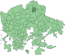 Position of Tapanila within Helsinki