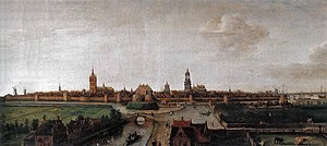 Hendrick Cornelisz Vroom - View of Delft seen from the west; one of the earliest cityscapes in the Netherlands, and the earliest of Delft