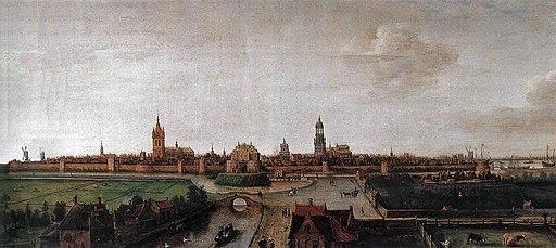 Hendrik Cornelisz. Vroom Gezicht op Delft vanuit het westen