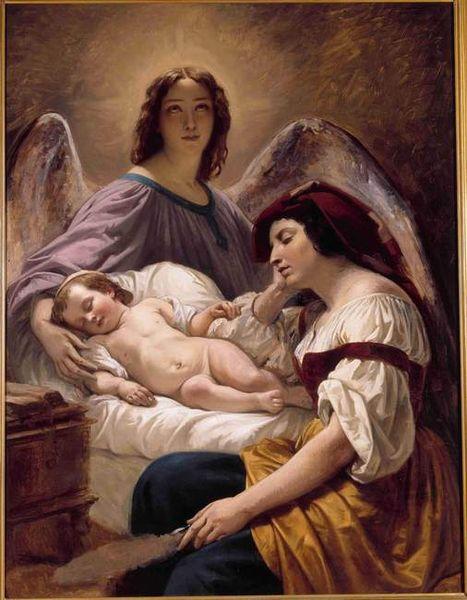 Datei:Henri Decaisne - L'Ange gardien, vers 1836.jpg