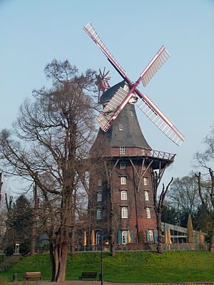 Am Wall Windmill - Image: Herdentorswallmühle in Bremen
