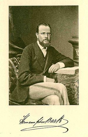 Hermann von Barth - Portrait, from Gesammelte Schriften (around 1865 - 1876)