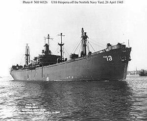USS Hesperia (AKS-13) - Image: Hesperia (AKS 13)
