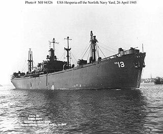 USS <i>Hesperia</i> (AKS-13) general stores issue ship