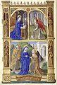 Heures de Charles VIII 029V Annonciation et Visitation.jpg