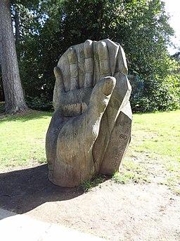 High Elms hand sculpture Smitherman 2002