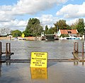High water in the River Yare at Reedham Ferry - geograph.org.uk - 1520355.jpg