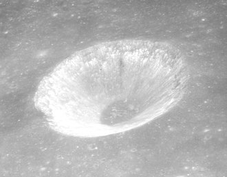 Hill (crater) - Oblique view of Hill also from Apollo 15