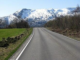 Lødingen - E10 road in Lødingen, May 2011.