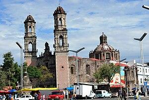 Colonia Guerrero - View of the San Hipolito Church