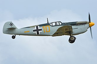 Battle of Britain (film) - HA-1112 Buchón in 2015, still sporting the livery worn during filming of the Battle of Britain. It was also used in the 2017 film Dunkirk