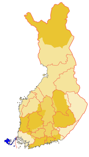 Historical province of Åland in Finland