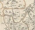 Hohe Wald Friedrich Adam Zürner Karte vom Meissner Kreis in Sachsen von 1733 Ausschnitt.jpg