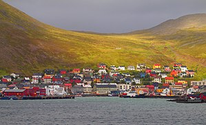 Honningsvåg - View of the town