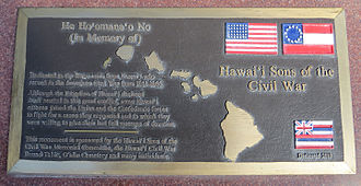 James Wood Bush - Memorial plaque for Hawai'i Sons of the Civil War in the National Memorial Cemetery of the Pacific, Honolulu