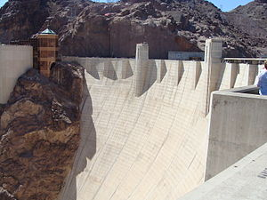 American and Canadian Water Landmark - Image: Hoover Dam from the Arizona side