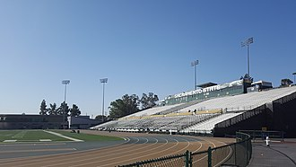 Hornet Stadium (Sacramento) - View from northwest in 2017