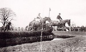 Horse racing in Wales - Image: Horse racing at Bangor Is Coed 1930