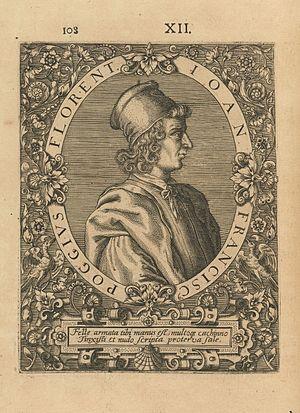 Poggio Bracciolini - 1597 engraving of Poggio Bracciolini