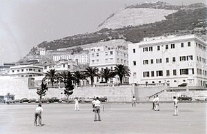 Gibraltar national cricket team - Cricket being played in Gibraltar in 1960