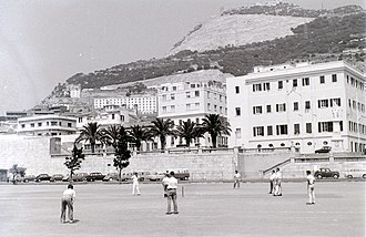 Gibraltar national cricket team - Cricket being played in Gibraltar in 1960
