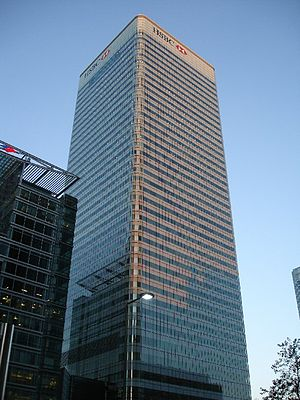 Metrovacesa - The HSBC building in Canary Wharf, London, owned by Metrovacesa from 2007 to 2008.