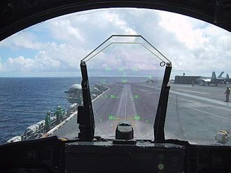 Head-up display - HUD of an aircraft