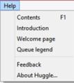 Huggle's Help menu (2019).png