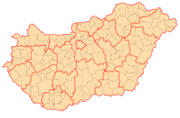 Hungary administration map