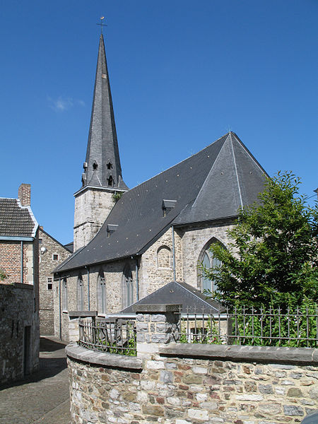 Huy (Belgium), Saint-Mengold church and the Rue des Frères Mineurs