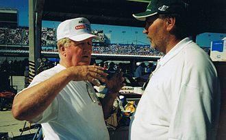 James Hylton - Hylton teaching Jim Lamorauex how to run Daytona 1999