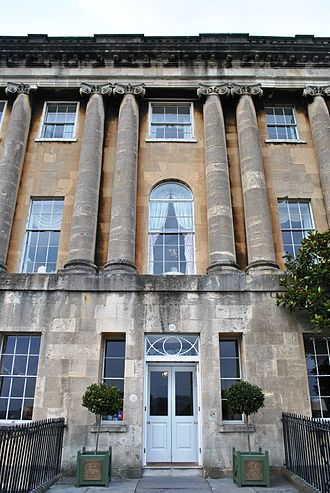 Blue Stockings Society - The centre house, 16 Royal Crescent, Bath, was used as a residence and to host Blue Stockings Society events by Elizabeth Montagu