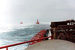 Icebreakers Yamal-Polar Sea-Lois S. St. Laurent 1994-08-24 view from Yamal.jpg