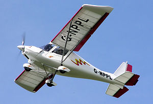 General aviation in the United Kingdom -  Ikarus C42 fixed-wing microlight