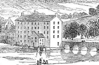 Ardfinnan - Illustration of Prendergasts corn mill - Mid 19th century