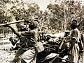 Indian gunners in training with field artillery, Singpore 1942 (24436742582).jpg