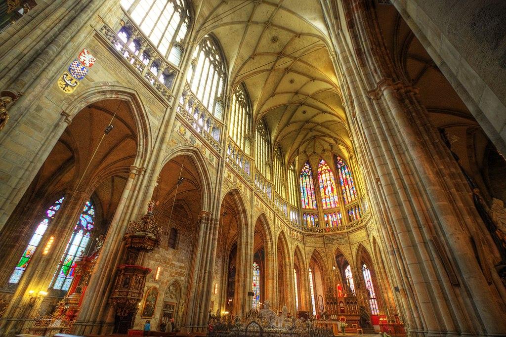 Inside Prague's St. Vitus Cathedral