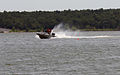 Instructors do a practice run of a high-speed serpentine course during a motorboat operating licensing course for U.S. Army Corps of Engineers employees at Eufaula Lake, Okla., June 6, 2012 120606-A-VS667-704.jpg